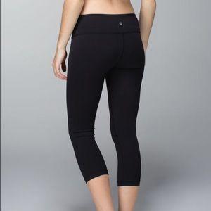 Lululemon black wunder under crops/leggings/tights